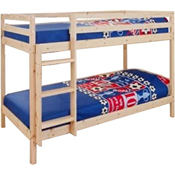 Comfy Living 2ft6 Shorty Childrens Bunk Bed In White With 2 Standard
