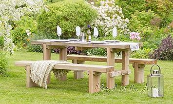 Elche Solid Wood Outdoor Furniture Garden Dining Bench