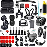 Adofys 61 in 1 Action Camera Accessories Kit Compatible for GoPro, Sony Action Cam, Nikon, Garmin, Ricoh Action Cam, SJCAM, i