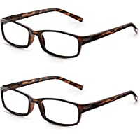 Fashion Glasses Mens/Ladies +1 to 3.5: Read Optics Stylish Readers Spectacles in Durable Tortoiseshell Plastic with…