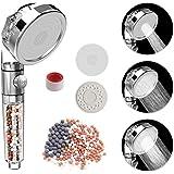 Rovtop Soffione Doccia Anticalcare Alta Pressione - Universale 3 Mode Soffione Per Doccia,55% di risparmio idrico,Filtro e Sf