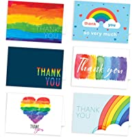 30 Eco Friendly Thank You Cards Multipack with Envelopes - Rainbow Designs - by Ruby Ashley®