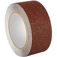 LifeKrafts Anti Slip Tape - Size (5 Meters * 50 MM) | BROWN | Good Grip, Friction|Pack of 1