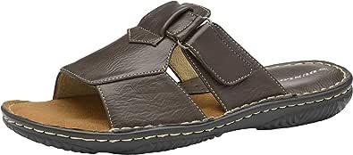 Mens Sandals Memory Foam Touch Fastening Open Toe Flip Flop Mules Summer Shoes