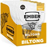 Ember Snacks Biltong, Original Flavour, Multipack 10 x 28g Bags, Beef Jerky, High Protein Meat Snack from Premium…