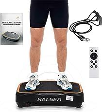 HALSEA SALCAR VT3.0 Ultraslim Vibrationsplatte vibrationstrainer Profi Home Vibrationsgeräte mit 3D Wipp Vibration, 99 einstellbaren Trainingsstufen, 200w Kraftvolle Motoren