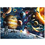 1000 Piece Space Traveler Puzzles Paper Planets Spacecraft in Space Jigsaw Puzzle for Adult Kids