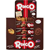 Pavesi Espositore Ringo, Biscotti Farciti con Crema al Gusto Cacao per Colazione o Gustoso Snack, senza Olio di Palma, Esposi