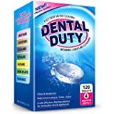 120 Retainer and Denture Cleaning Tablets -(4 Months Supply)- Cleaner Removes Bad Odor, Plaque, Stains from Dentures, Retaine