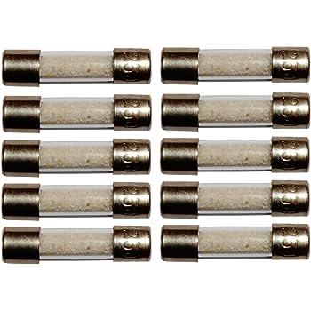 Satz von 10 Glassicherungen Glasrohr Sicherungen 2cm 20mm 5mm 5x20mm 220V 250V 6.3A Aerzetix