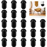 50 Piezas Tapones Redondos de Plástico Negro Protector Patas Sillas Tapas de Tubo Redondas para Sillas Protectores para Pata