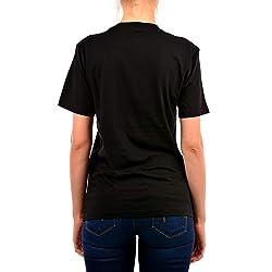 A X Armani Exchange Camiseta de Manga Corta para Mujer con dise o de Cara y Cuello Redondo Negro X Small