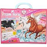 Depesche-DP-0010898 Libro para Colorear Miss Melody, Create Your Dream Horse, Aprox. 30,5 x 33 x 1,5 cm, Color carbón (10898)