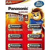 Panasonic Alkaline AA-Size Battery - Pack of 6- LR6TDG/6B