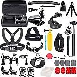 YHTSPORT - Kit de accesorios de cámara de acción para GoPro Hero 9 8 Max 7 6 5 4 negro, GoPro 2018, Session Fusion, plata, bl