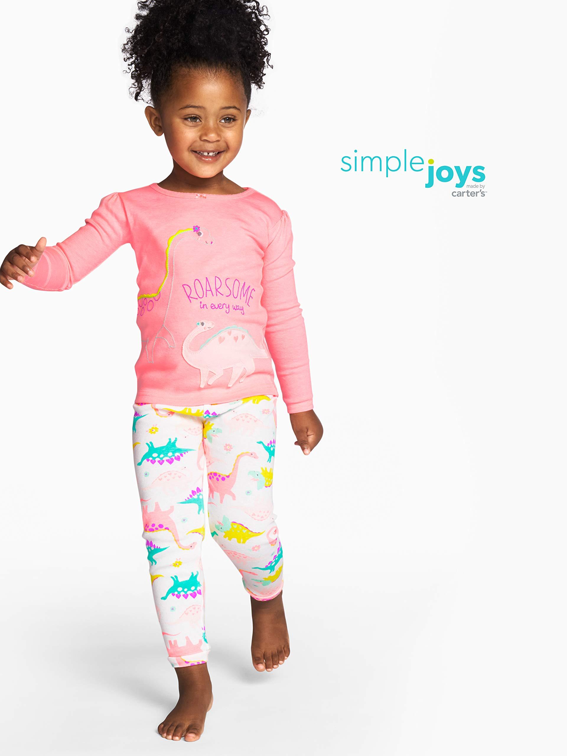 Simple Joys by Carter's - Pijamas enteros - Juego de pijama de algodón de ajuste cómodo de 6 piezas. - para bebé niña 3