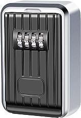 Cassetta di Sicurezza a Chiave, Key Lock Box Custodia per Chiavi Per Uso Esterno Fissata Al Muro Impermeabile Chiave di Combinazione a 4 Cifre Completo di Fissaggi
