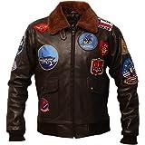Top Gun USAAF Tom Cruise Pete Maverick Jet Pilot Flight WW2 Bomber Giacca G1 Aviator Air Force collo in pelliccia con toppe r