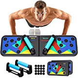SGODDE Push Up Board, Push Up Fitness System Stand, Pieghevole Multifunzionali Body Buiding Push Up Rack Board, con Fascia di