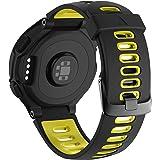 NotoCity Garmin Forerunner 735XT armband, compatibel met Forerunner 235/230/220/620/630/735XT, horlogebandje zachte siliconen