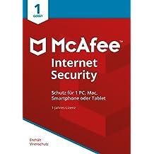 McAfee Internet Security 2018 für 1 Gerät [Online Code]