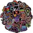 BETOY Adesivi al Neon, 100 Pezzi Adesivi al Neon per Bambini Neon Light Sticker Adesivi Graffiti Decal Vinyl Deco Stickers pe