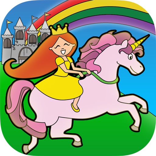 Prinzessin-Märchen Färbung Wunderland Für Kinder Und Familie Vorschul Free (Tiara Regenbogen)