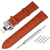 Beauty7 - Cinturino per orologio, 14mm / 16mm / 18mm / 19mm / 20mm / 21mm / 22mm / 24mm, cinturino in pelle di mucca,