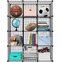 Meerveil Armoire Penderie Portable, Etagère De Rangement, Cubes De Stockage Modulaire en Plastique en Métal Stable…