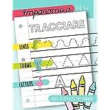 Impariamo a tracciare: Linee forme lettere: Libro di attività per bambini: Età 3+: Un libro di attività per bambini in età pr