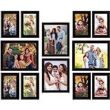 Amazon Brand - Solimo Set of 12 Collage Photo Frames (4 Pcs-8X10 Inch & 8 Pcs-5X7 Inch), Black