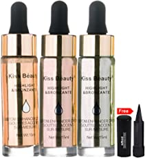 Kiss Beauty 3in1 Highlight & Bronzante 9533B Pack of 3 With Free Adbeni Kajal Worth Rs.125/-