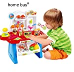 home buy Supermarket Shop 34 Pcs with Sound Effects, Multi Colo