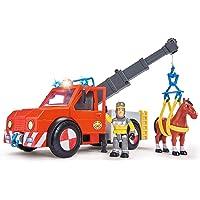 Speelgoed Véhicule de Sauvetage-Sam Le Pompier-Phoenix avec Figurine/Cheval, 79403, Multicolore