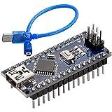 AZDelivery Nano V3.0 con ATmega328 Chip CH340 y 5V 16MHz versión soldada, Micro Controlador Board, versión Mejorada con Cable