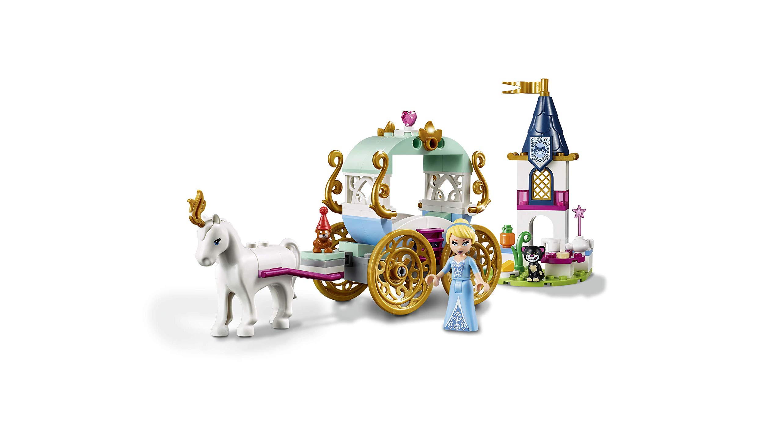 Lego-Disney-Princess-Il-Giro-in-Carrozza-di-Cenerentola-Gioco-per-Bambini-Colore-Vari-41159