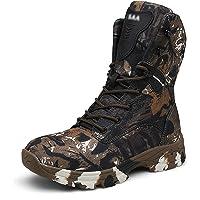 Wygwlg Chaussures de Sport en Plein air Tactique pour Hommes Oxford Chaussures de randonnée Camouflage imperméable,Brown…