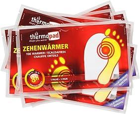 Thermopad Zehen-Wärmer | Angenehme Wärme für die Zehen | 37°C | ultra dünne Heiz-Pads | sofort einsetzbar | 6 Stunden intensive Wärme  | 10 Paare