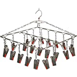 SYNERGY - 25 Clips - Stainless Steel Square Cloth Dryer/Clothes Drying Stand/Hanger with Clips (Clothes Peg) [SY-CS13]
