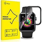 GiiYoon-4 Piezas Protector Pantalla para Apple Watch 42mm Series 3/2/1,[TPU-Film] [3D Cobertura Completa][Sin Burbujas] [Alta