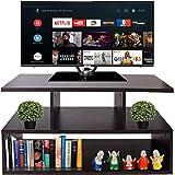 AAROORA Engineered Wood TV Table Unit Display Storage Cabinet Rack with Decor Shelf (Wenge Finish)