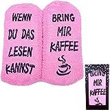 Jeasona Kuschelsocken Damen Flauschige Lustige Wenn Du Das Lesen Kannst Socken mit Motiv Geschenke für Frauen