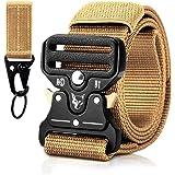 MELLIEX Cintura Militare Tattica da Uomo, Cinturini in Nylon con Fibbia Metallica a Sgancio Rapido a Sgancio Rapido con Porta