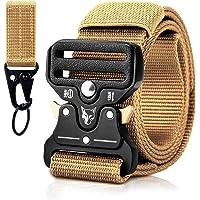 MELLIEX Cintura Militare Tattica da Uomo, Cinturini in Nylon con Fibbia Metallica a Sgancio Rapido a Sgancio Rapido con…