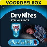 Huggies DryNites Boy's Pyjama Pants, 3-5 Years (30 Pants - 3 Packs x 10 Pants)