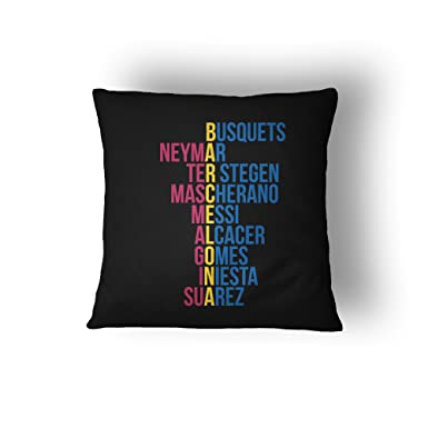 Barcelona 2016 2017 crossword cushion pillow cover Black Amazon