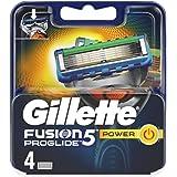 Gillette Fusion 5 ProGlide Power Lamette di Ricarica per Rasoio Uomo, Confezione da 4 Lamette di Ricambio Con Tecnologia Flex