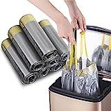 Madeb Drawstring Bin Liner met Drawstring 12-15 L (Zilver, 5 x15 zakje