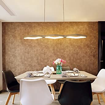 Chandelier Pendant Lamp Simple Three Chandeliers Modern Dining Room Bedroom Study Bar LED Lights Color White Light Amazoncouk Lighting
