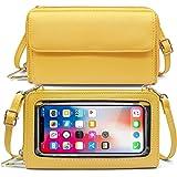HNOOM Handytasche zum Umhängen Damen Handtasche Touchscreen Handytasche mit Geldbörse RFID Schutz Handy Geldbeutel Umhängetas